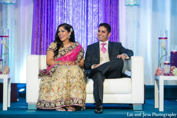 Indian wedding reception outfits in Newport Beach, CA Indian Wedding by Lin and Jirsa Photography