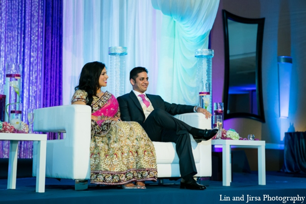 Indian wedding reception in Newport Beach, CA Indian Wedding by Lin and Jirsa Photography