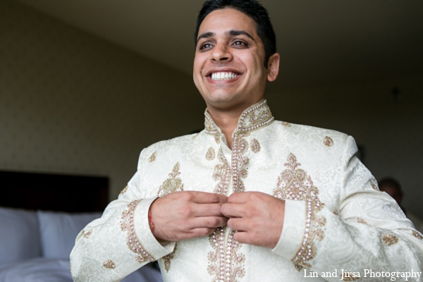 Indian wedding sherwani in Newport Beach, CA Indian Wedding by Lin and Jirsa Photography