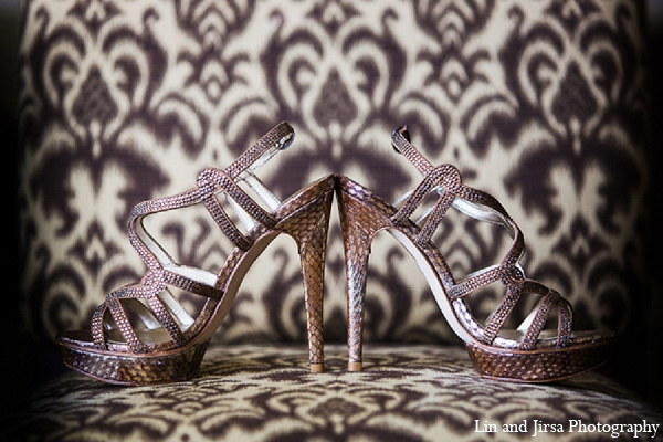 Indian wedding bridal accessories shoes photography in Huntington Beach, CA Indian Wedding by Lin and Jirsa Photography