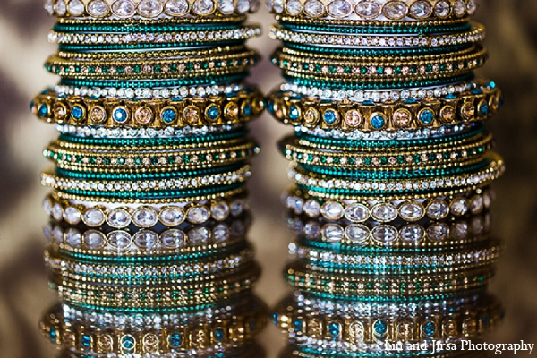 Indian wedding bridal jewelry bangles churis in Huntington Beach, CA Indian Wedding by Lin and Jirsa Photography