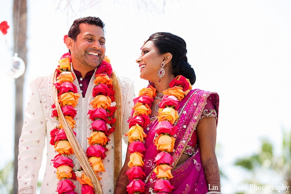 Indian wedding bride groom hindu ceremony in Huntington Beach, CA Indian Wedding by Lin and Jirsa Photography