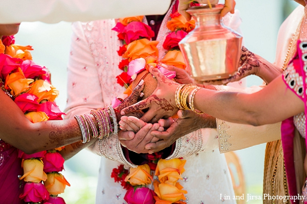 Indian wedding bride groom traditions in Huntington Beach, CA Indian Wedding by Lin and Jirsa Photography
