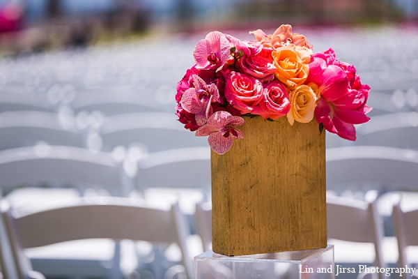 Indian wedding floral ceremony venue in Huntington Beach, CA Indian Wedding by Lin and Jirsa Photography