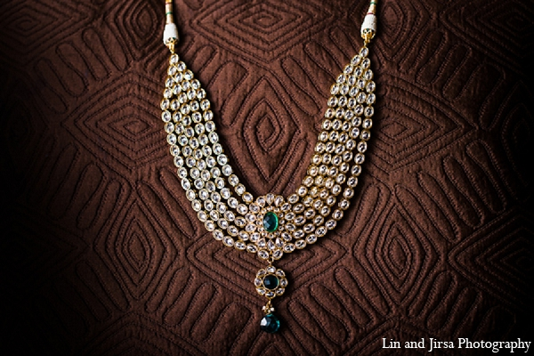 Indian wedding necklace bridal jewelry emerald in Huntington Beach, CA Indian Wedding by Lin and Jirsa Photography