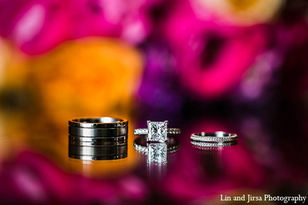 Indian wedding rings photography in Huntington Beach, CA Indian Wedding by Lin and Jirsa Photography