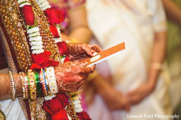 Indian bride groom wedding ceremony