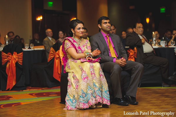 Indian bride groom wedding reception
