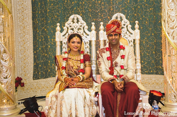 Indian wedding bride groom ceremony