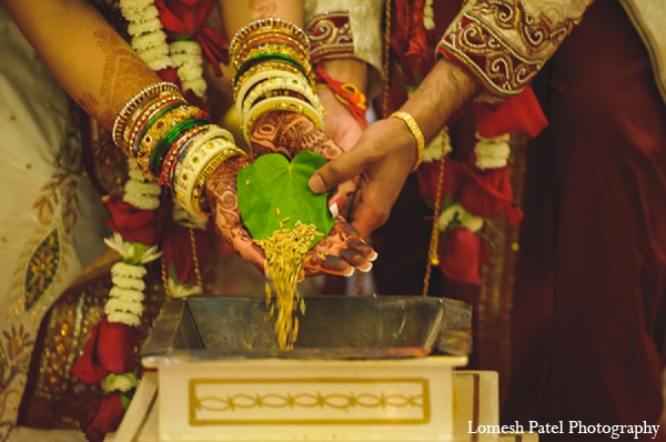 Indian wedding groom bride ceremony