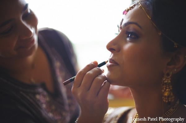 Indian wedding makeup hair bride
