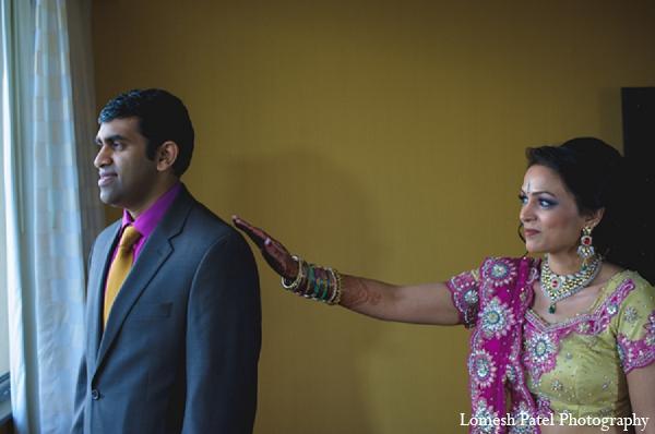 Indian wedding reception bride groom