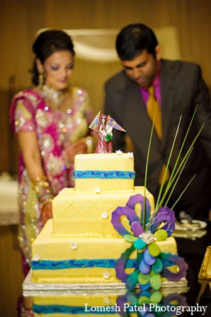 Indian wedding reception cake photography