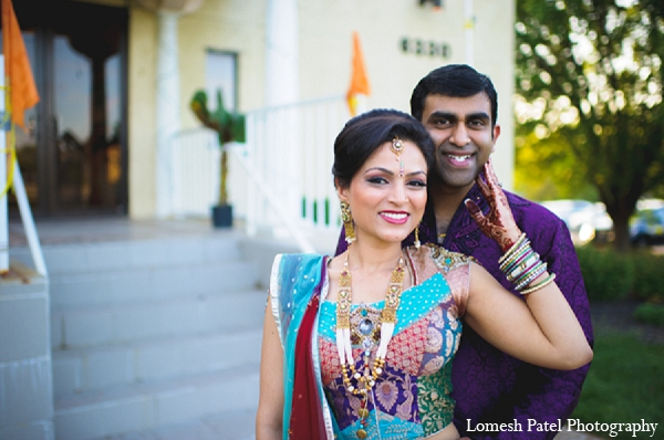 Indian wedding sangeet bride groom