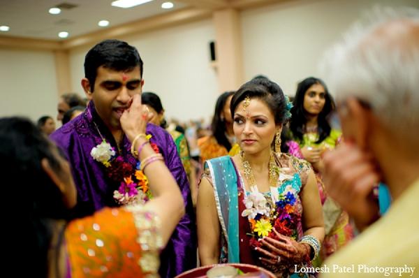 Indian wedding sangeet groom bride