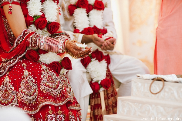 Indian-wedding-ceremony-detail-groom-bride