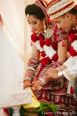 Indian-wedding-ceremony-groom-bride-detail
