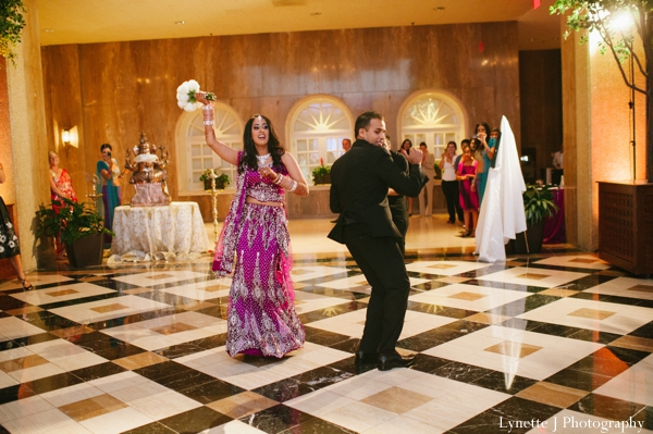 Indian-wedding-reception-dancing-bride-groom