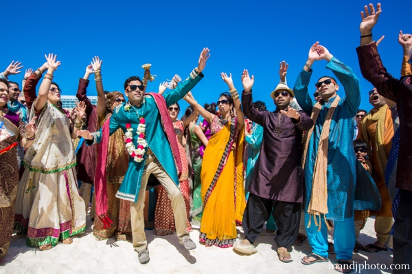 Indian wedding baraat beach celebration