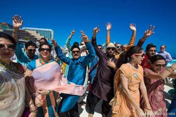 indian wedding baraat beach ocean