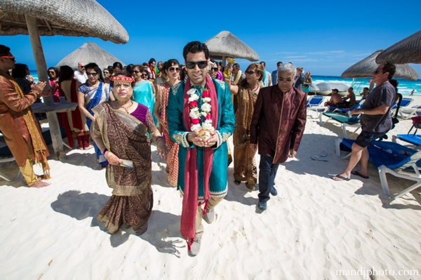 Indian wedding beach grooms baraat celebration