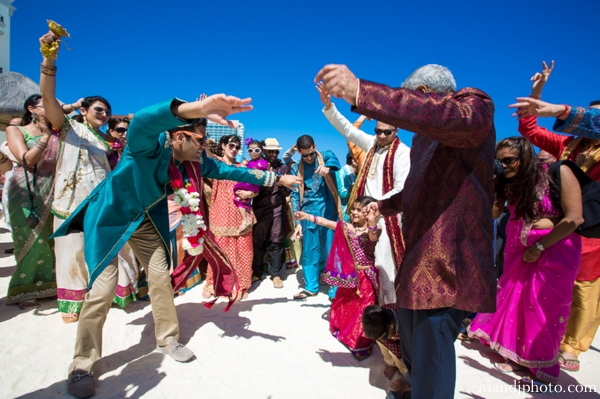 Indian wedding beach ocean celebration