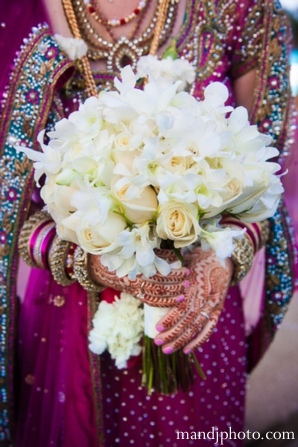 Indian wedding bridal floral bouquet