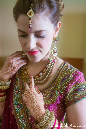Indian wedding bridal jewelry henna