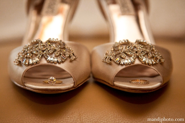 Indian wedding bridal shoes gold
