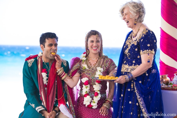 Indian wedding bride and groom traditional ceremonial customs