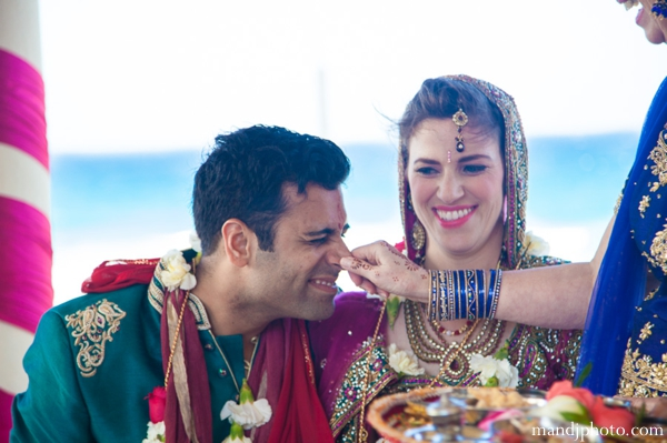 Indian wedding bride and groom traditional customs