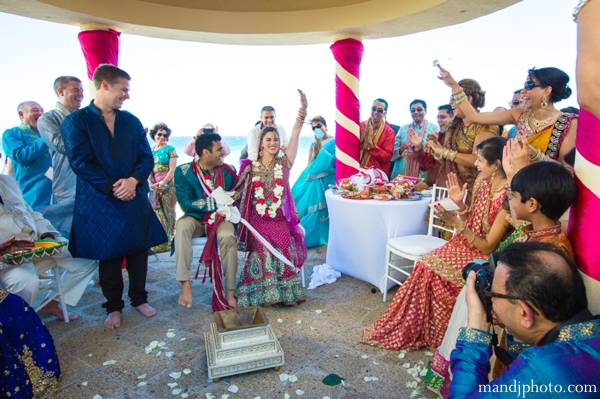 Indian wedding ceremony beach mandap