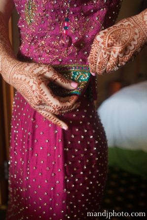 Indian wedding ceremony prep fusion bride