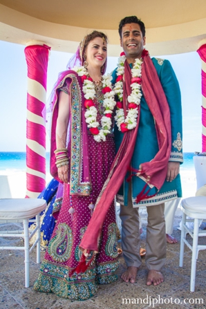 Indian wedding couple fusion ceremony
