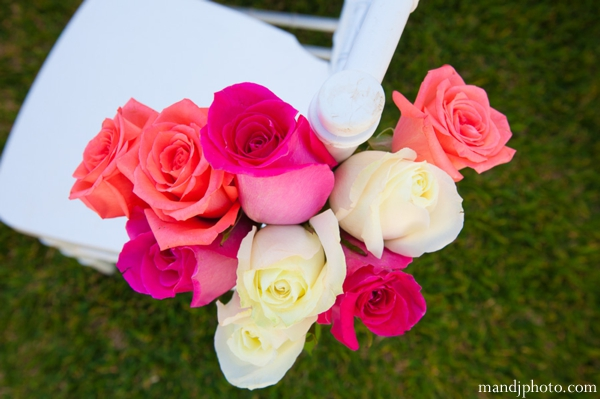 Indian wedding decor roses chair ceremony