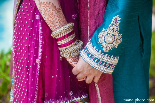 Indian wedding detail couples portrait henna bangles