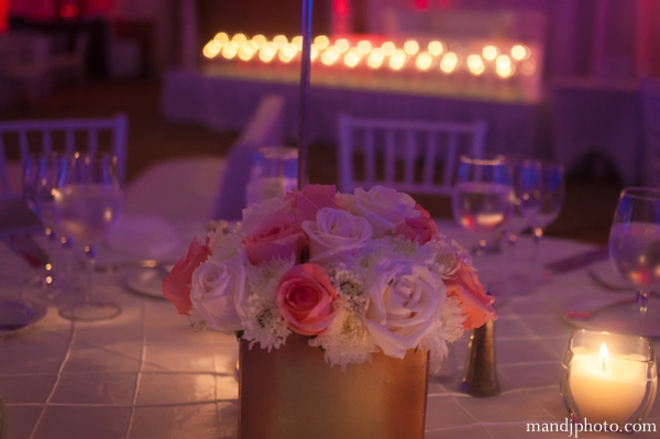Indian wedding floral and decor reception