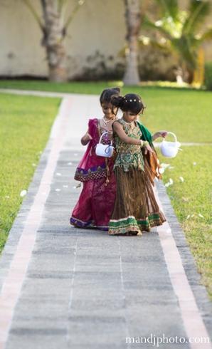Indian wedding flower girls mini maharanis