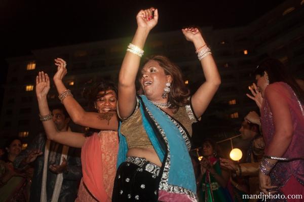 Indian wedding mehndi night celebration