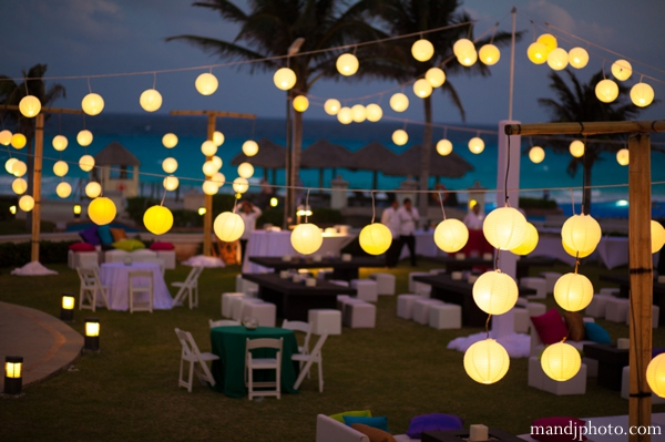 Mehndi Night Party : Indian wedding mehndi night party lights maharani weddings