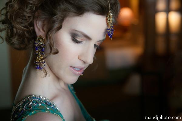 Indian wedding portrait of bride