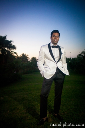Indian wedding reception portrait groom