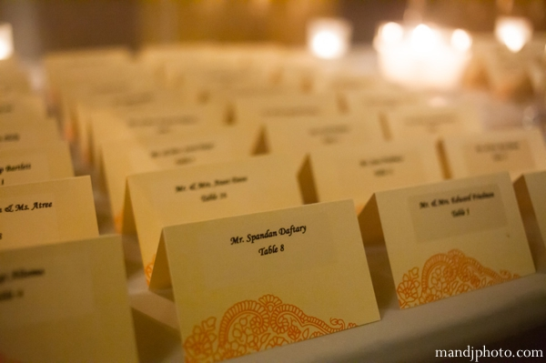 Indian wedding stationary table name cards