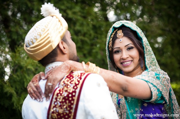 Indian bride groom pictures in Chicago, Illinois Pakistani Wedding by Maha Designs