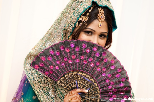 Pakistani bridal hair in Chicago, Illinois Pakistani Wedding by Maha Designs