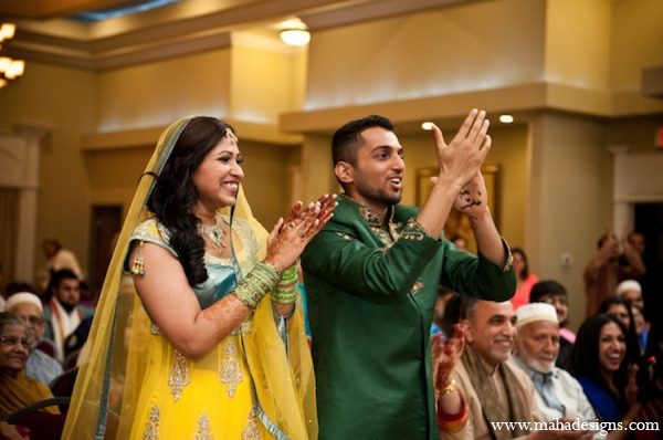 Pakistani bride groom outfits in Chicago, Illinois Pakistani Wedding by Maha Designs