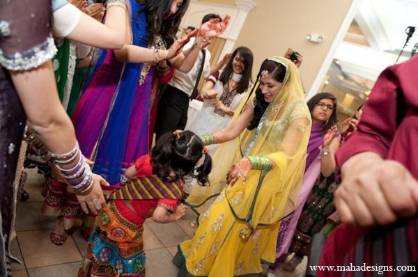 Pakistani bride mehndi party in Chicago, Illinois Pakistani Wedding by Maha Designs
