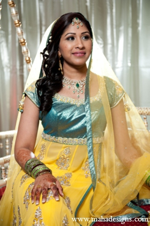 Pakistani bride portrait in Chicago, Illinois Pakistani Wedding by Maha Designs
