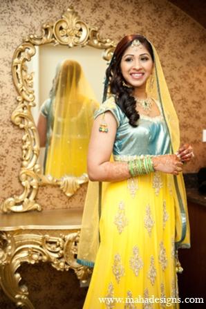 Pakistani bride in Chicago, Illinois Pakistani Wedding by Maha Designs