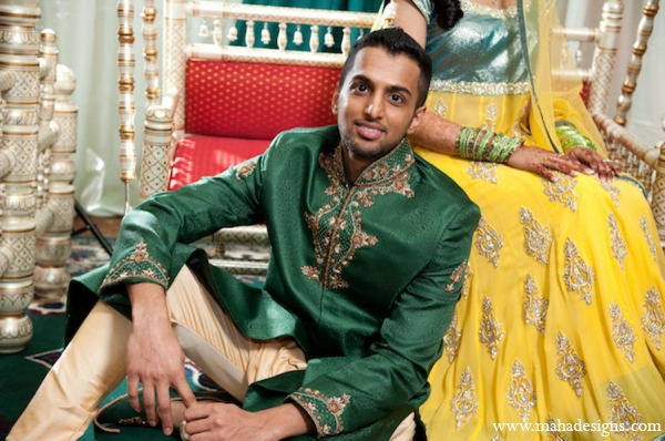 Pakistani groom bride in Chicago, Illinois Pakistani Wedding by Maha Designs